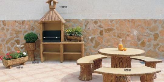 Mesas jard n mesas conjuntos mesa y barbacoas para - Mesas de piedra para jardin ...