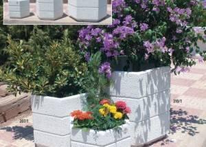 Maceton para jardín de piedra