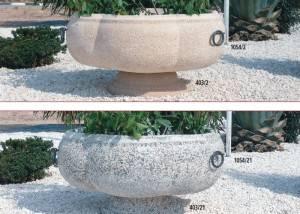 Jardinera de piedra Circular