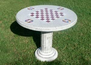 mesa de piedra ajedrez