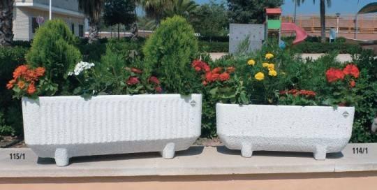 Jardineras de piedra- Mobiliario urbano y jardín