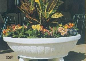 Jardinera taza estrías de piedra