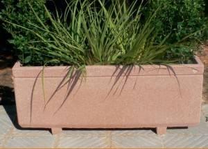 Jardinera de piedra rectangular lisa
