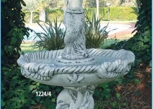 Fuente de piedra con Sirena y Delfín
