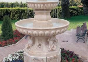 fuente para jardines base doble