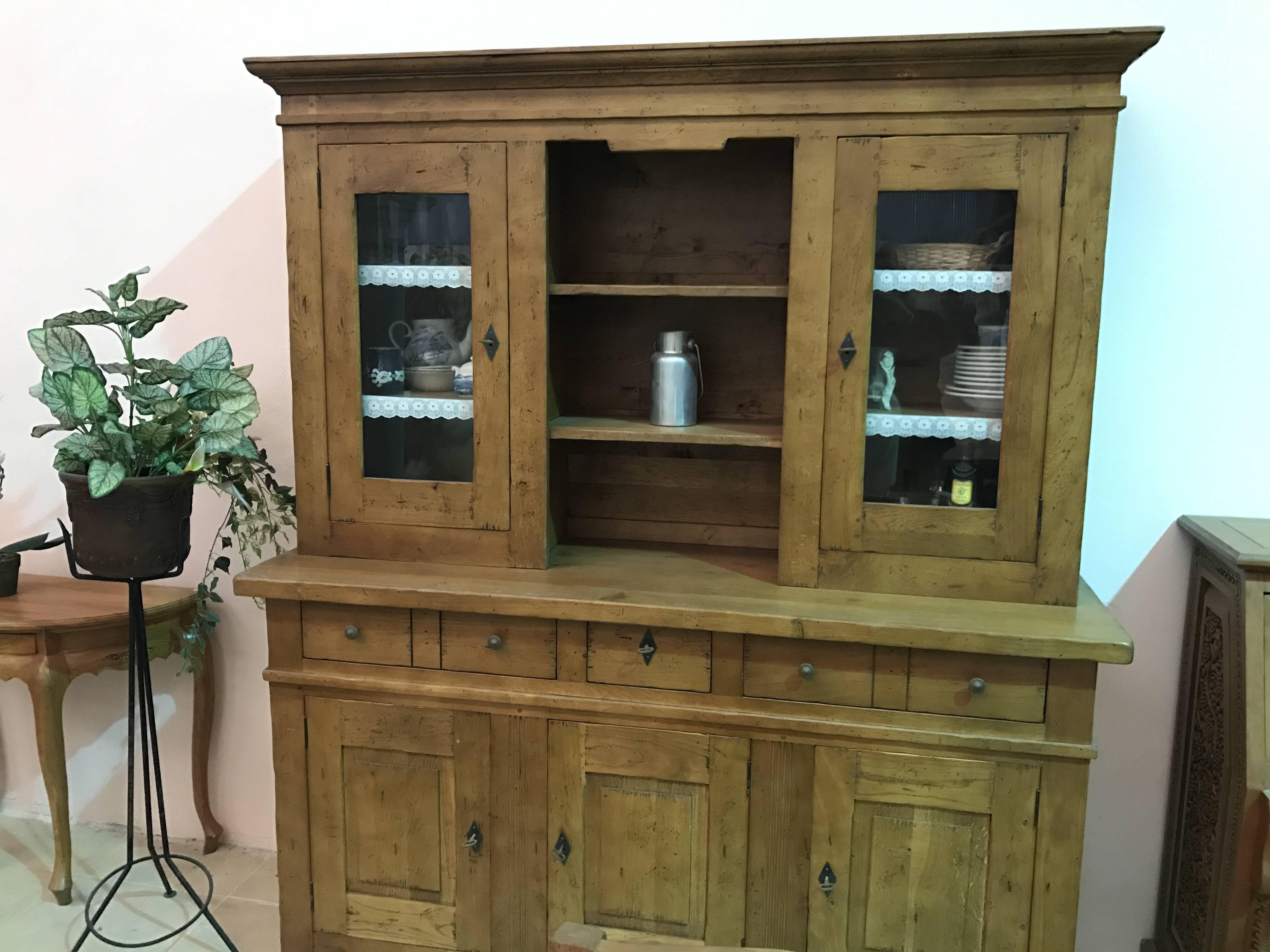 Conjunto muebles madera teka maciza artehispano for Muebles madera maciza outlet
