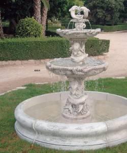 Fuente de piedra para jard n delfines fuentes de piedra para jardines - Fuentes para jardin de piedra ...