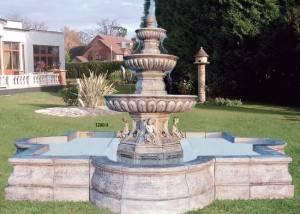 Fuente para jardín con estanque
