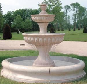 Fuente de piedra con estanque granada fuente de piedra for Fuente estanque jardin