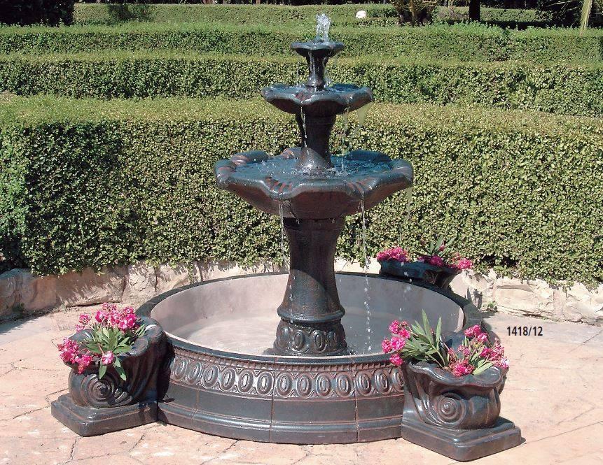 Fuentes de piedra para jard n y fuentes urbanas y decorativas - Fuentes para jardin de piedra ...